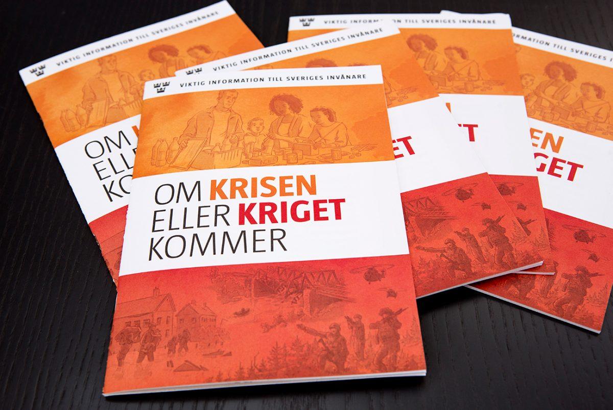 Broschyren Om krisen eller kriget kommer, som ges ut av MSB.